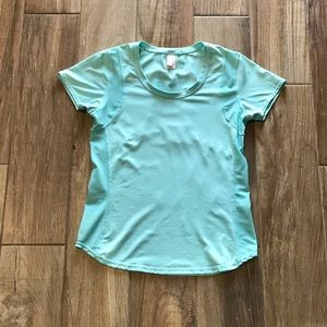 **NEW** Lucy Teal Active Scoop Neck Top